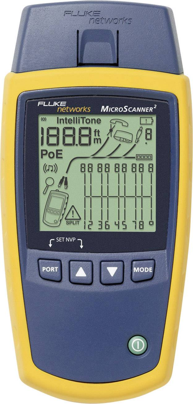 Tester inštalácie zvukových, dátových a video káblov Fluke Networks MS2-100 Microscanner2