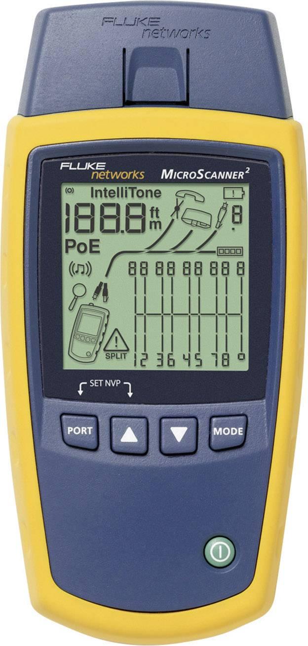 Tester pro instalaci zvukových, datových a video kabelů Fluke Networks MS2-100 Microscanner2