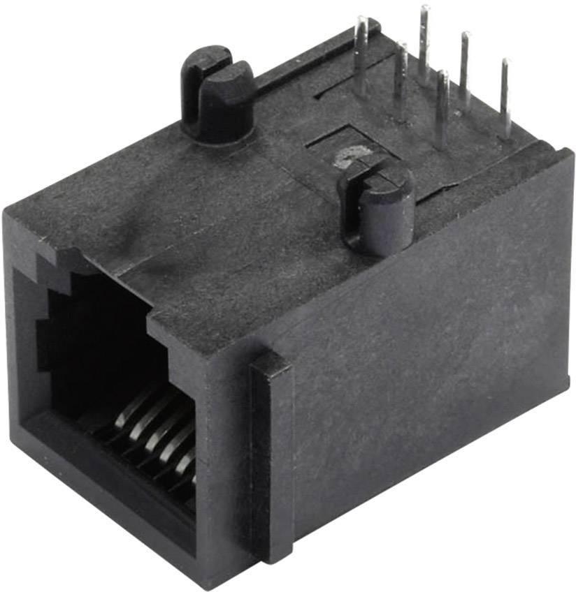 RJ45 konektor BEL Stewart Connectors SS64600-015F - zásuvka, vestavná horizontální RJ12 černá, 1 ks
