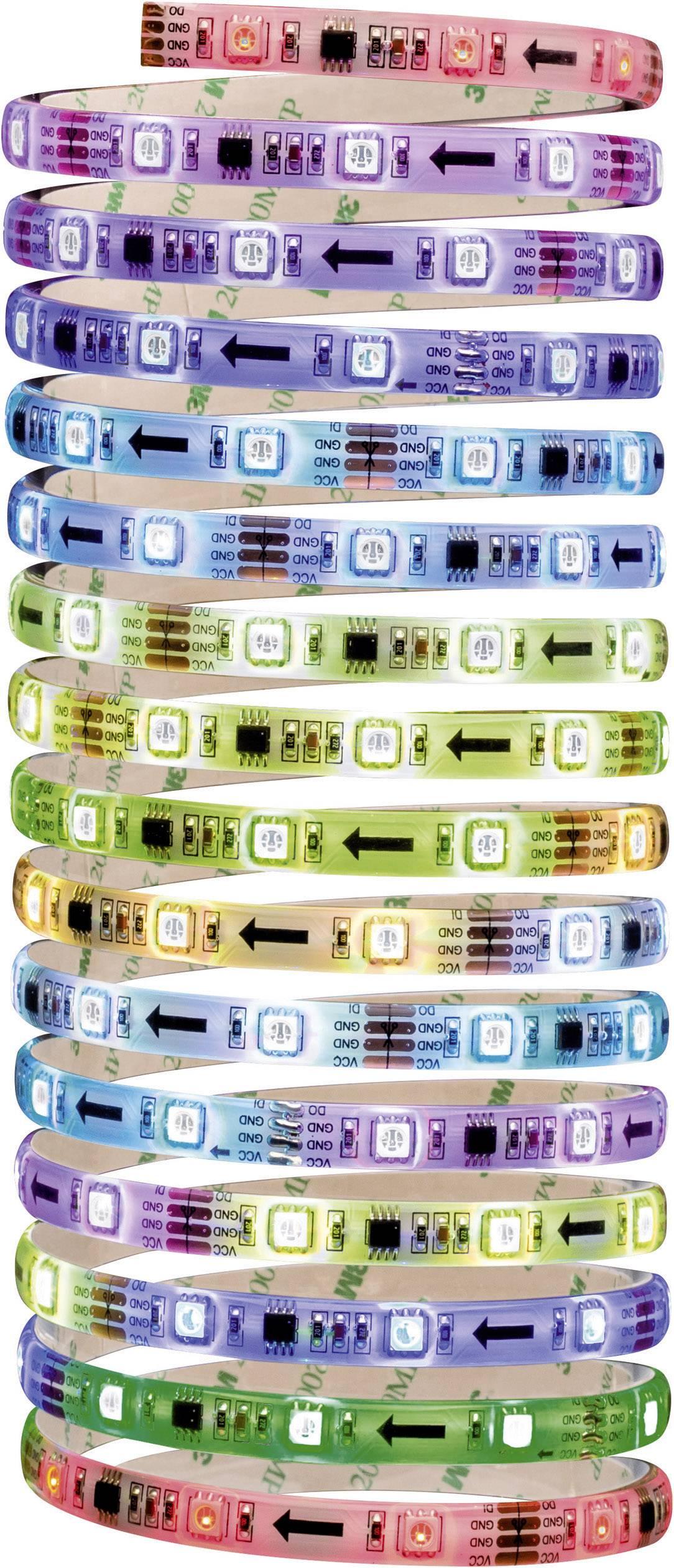 LED pásek Paulmann 70480, 12 V, 24 W, RGB, 500 cm