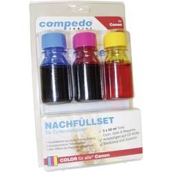 Sada patronových náplní inkoustových compedo MREFILL07 Vhodný pro značky (tiskárny): Canon azurová, purppurová, žlutá Celkový obsah inkoustu: 150 ml