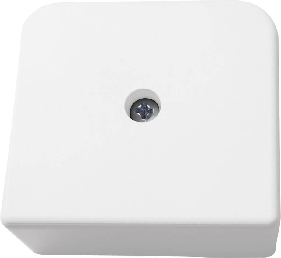 Inštalačná rozbočovacia krabička 5330, (d x š x v) 60 x 55 x 25 mm, IP30, biela
