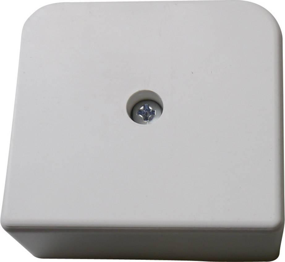 Rozbočovací krabice pro montáž na omítku GAO 5331, (d x š x v) 60 x 55 x 25 mm, IP30, šedá