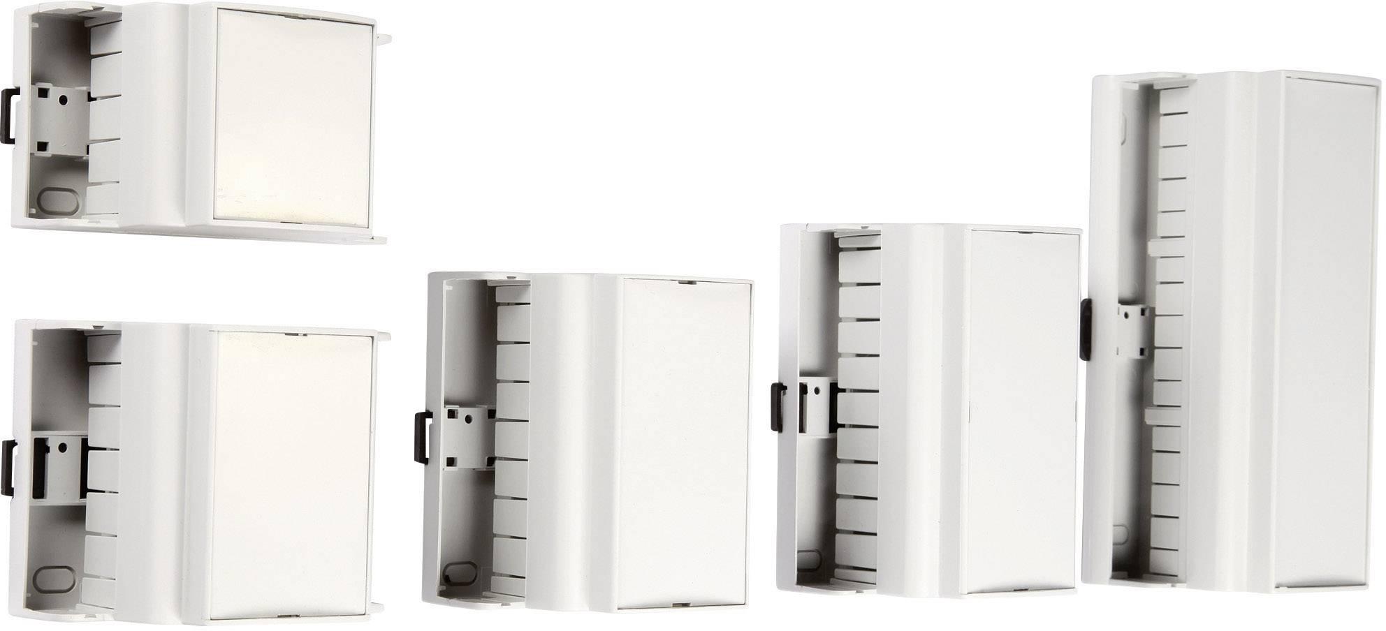 Pouzdro do lišty MR9/K CR RAL7035 ABS (018037087371), 157,5 x 90 x 62 mm