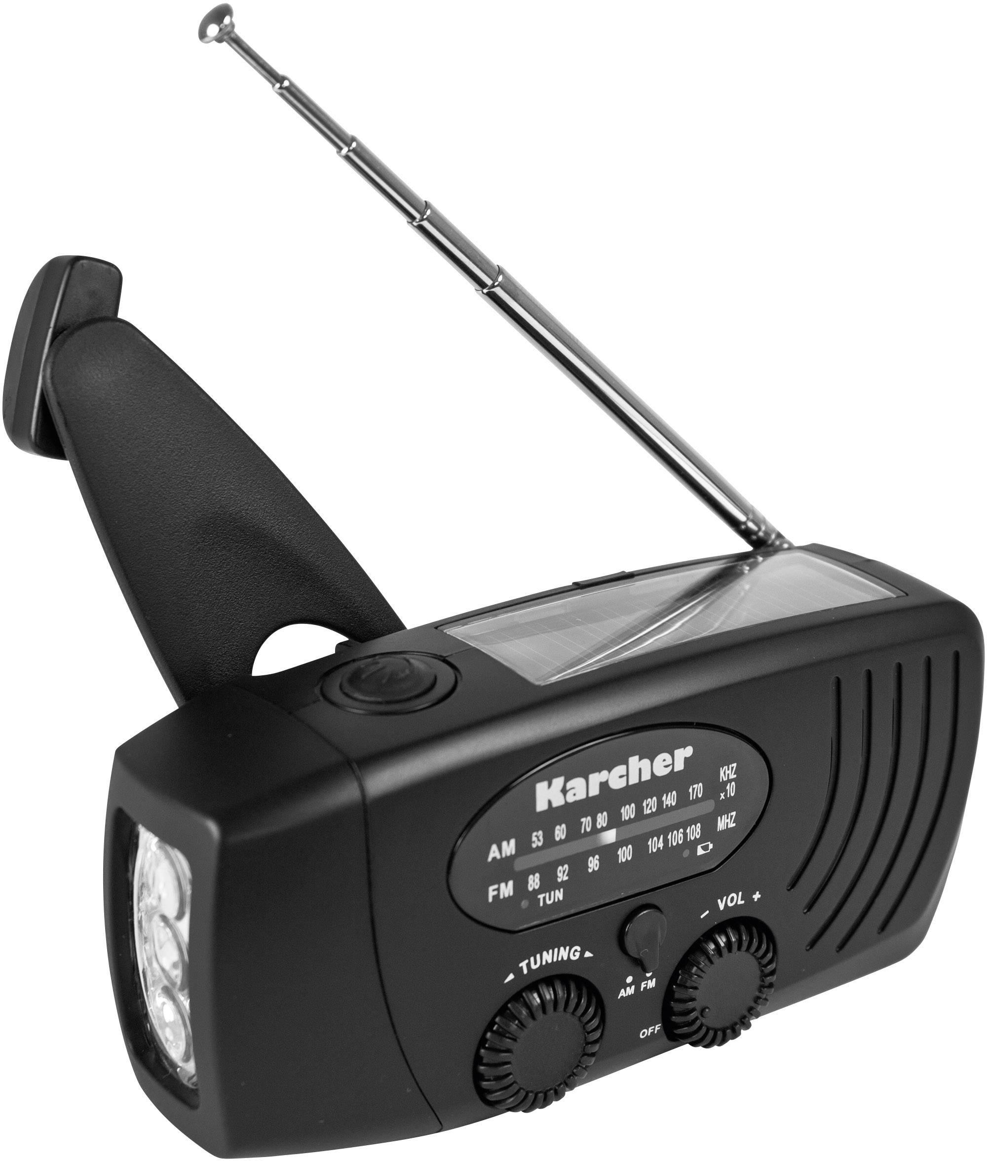 FM outdoorové rádio s lampou Karcher KR 110, čierna