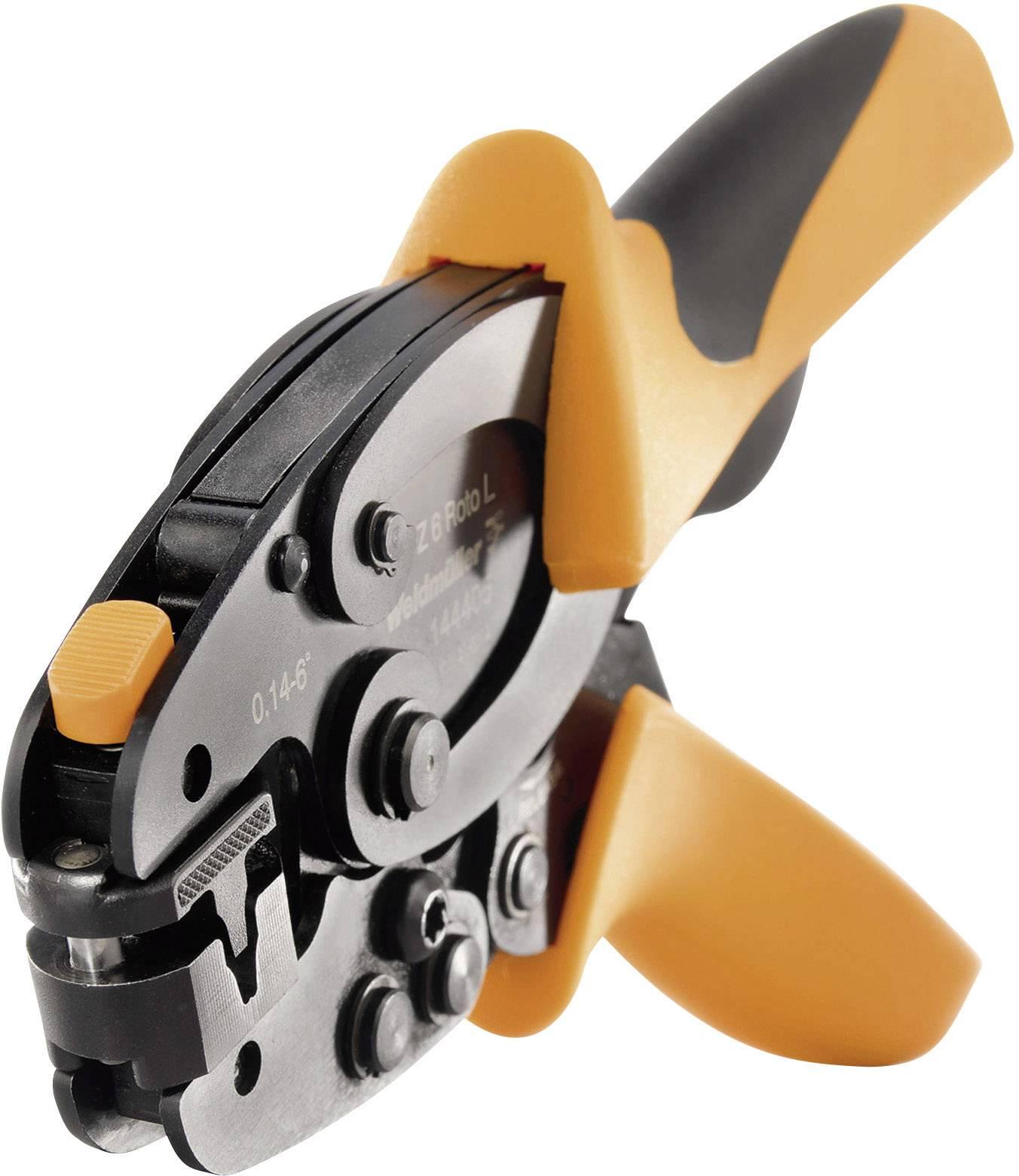 Krimpovací kleště 0,14 mm² / 6 mm² Weidmüller PZ 6 Roto L (1444050000), černá/oranžová