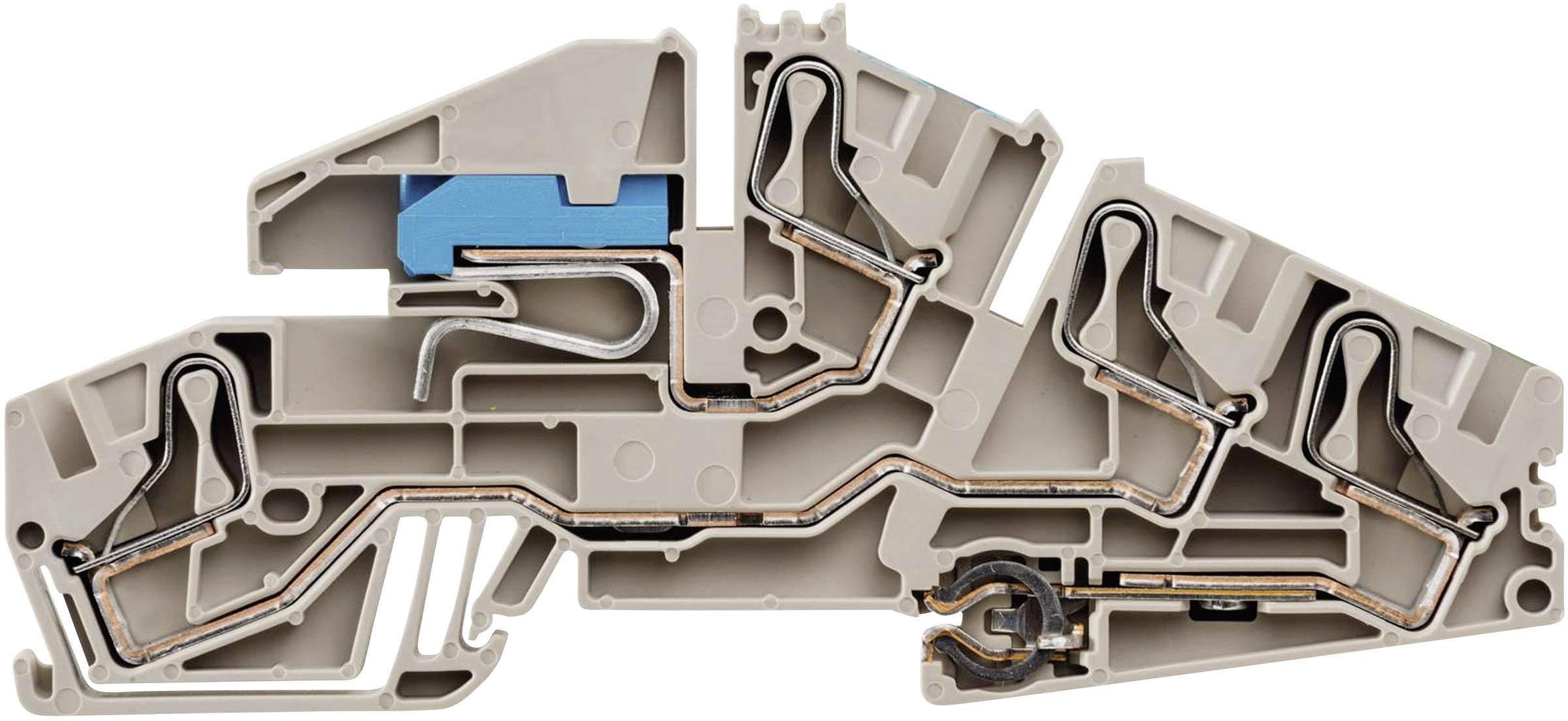 Řadová instal. svorka Weidmüller PDL 6S NT/L/PE (1411320000), rychlé připojení, béžová
