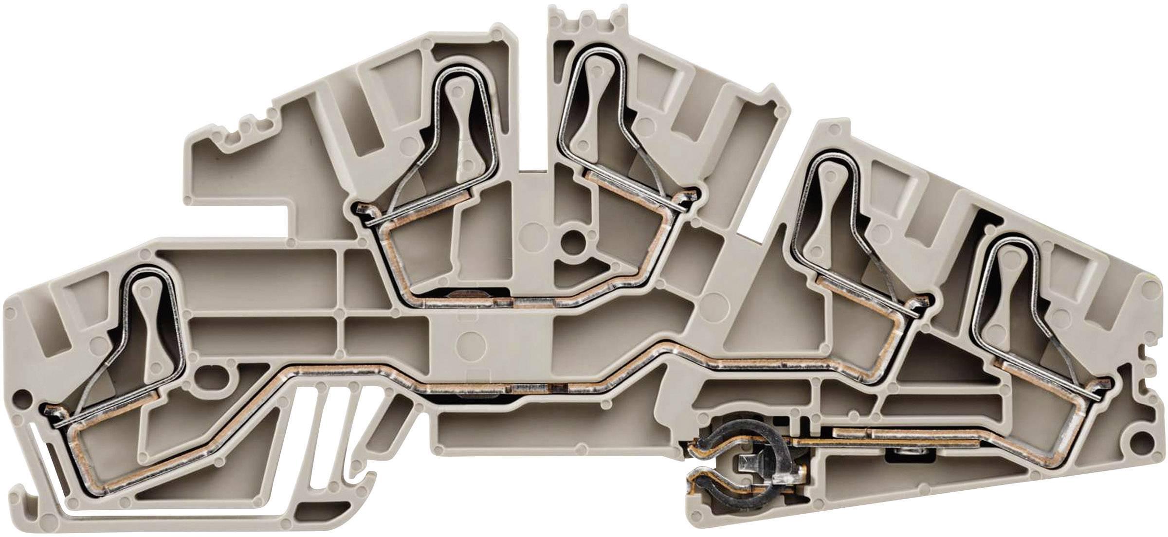 Řadová instal. svorka Weidmüller PDL 6S L/L/PE (1411330000), rychlé připojení, béžová