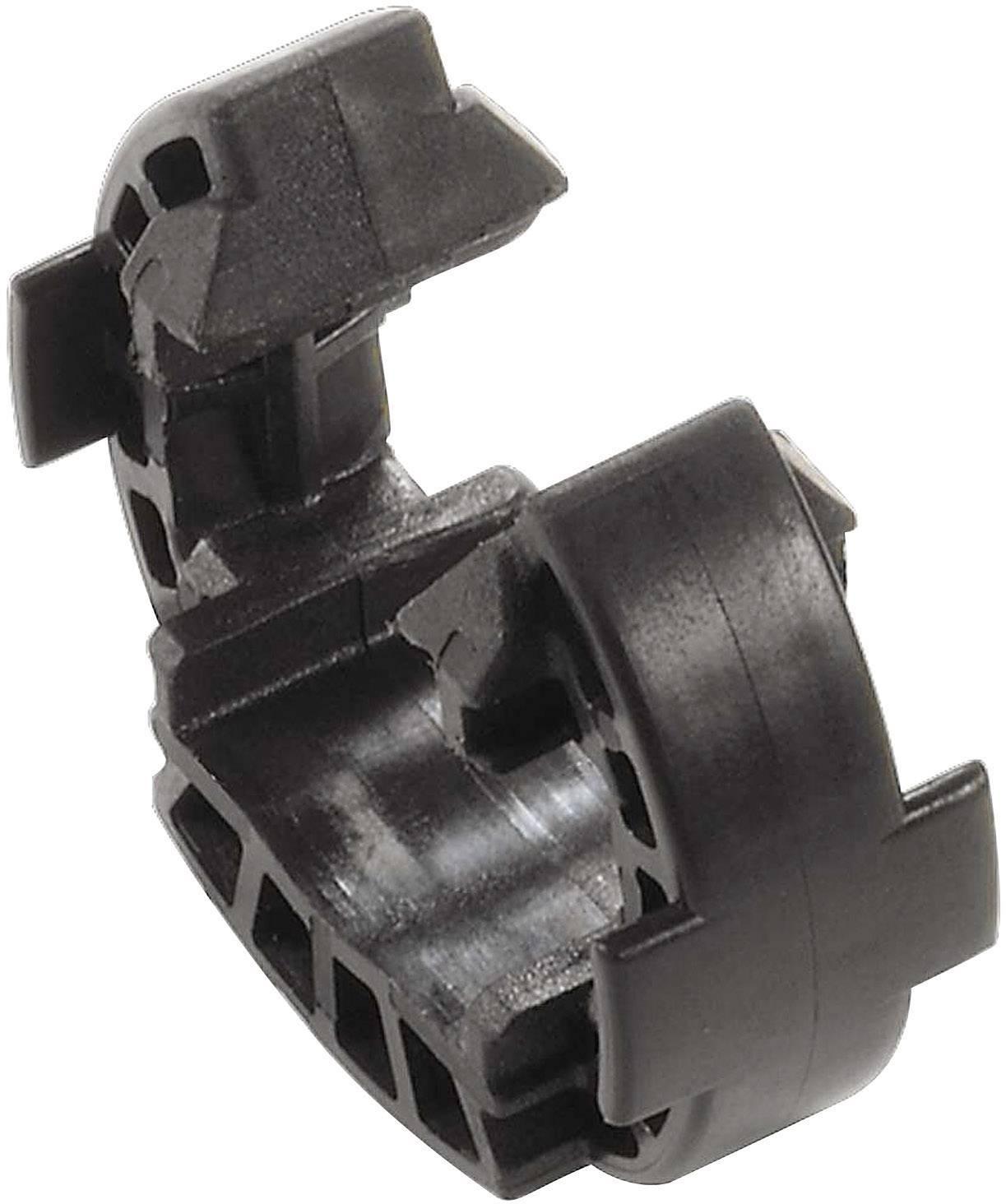 Jisticí klip Weidmüller SAFETY-CLIP WM4 VPE10 (1328150000), černá