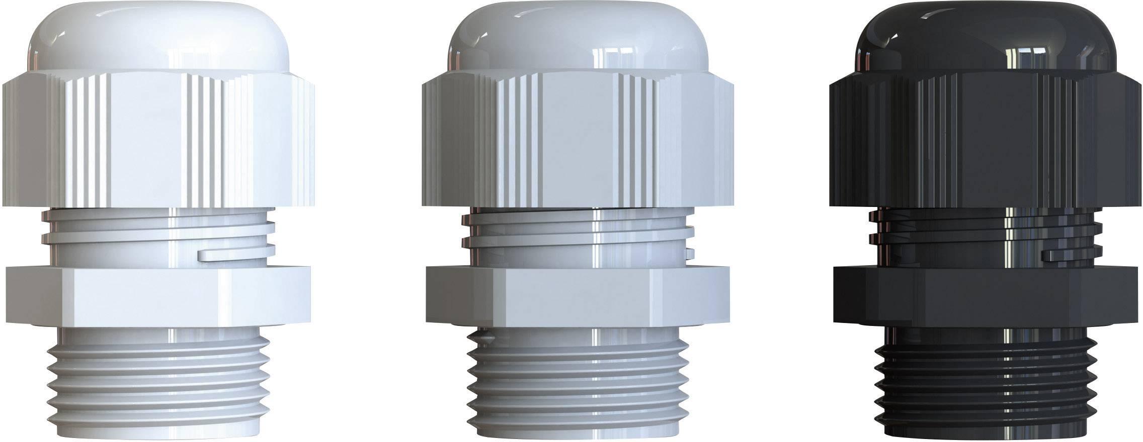 Kabelová průchodka Bimed BM-EN-01 BM-EN-01 polyamid, délka závitu 10 mm, stříbrnošedá (RAL 7001), 50 ks