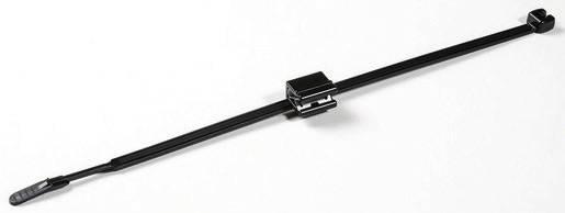 Q-Tie Kabelska vezica s EdgeClip-om (D x Š) 210 mm x 4.7 mm Q50REC5B črna, 1 kos, HellermannTyton