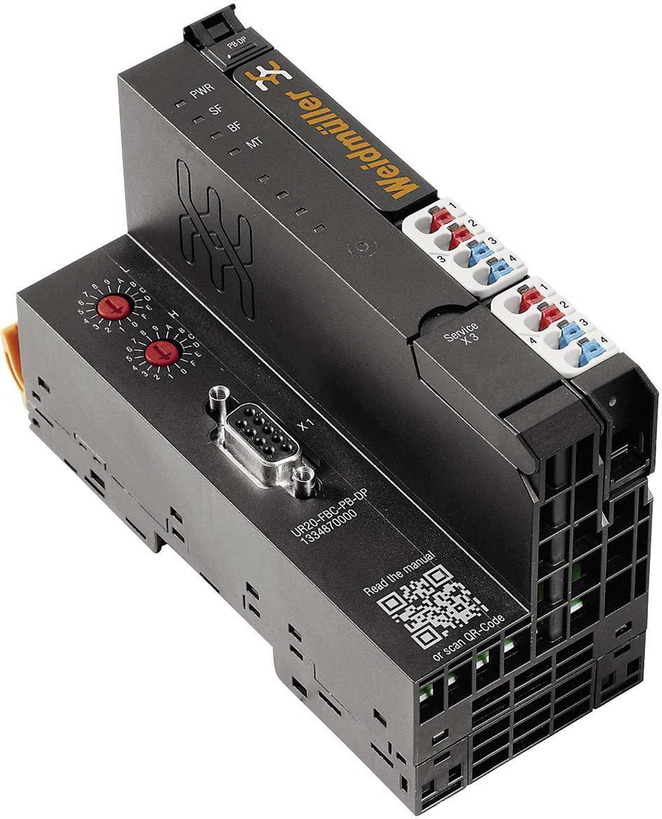 Přípojka sběrnice pro PLC Weidmüller UR20-FBC-PB-DP, 1334870000