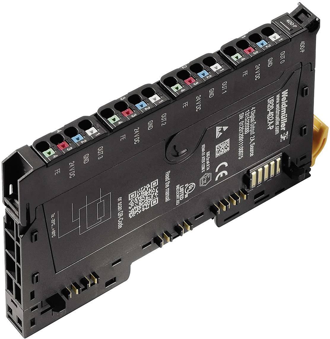 Analogový výstupní modul pro PLC Weidmüller UR20-4DO-P-2A, 1315230000