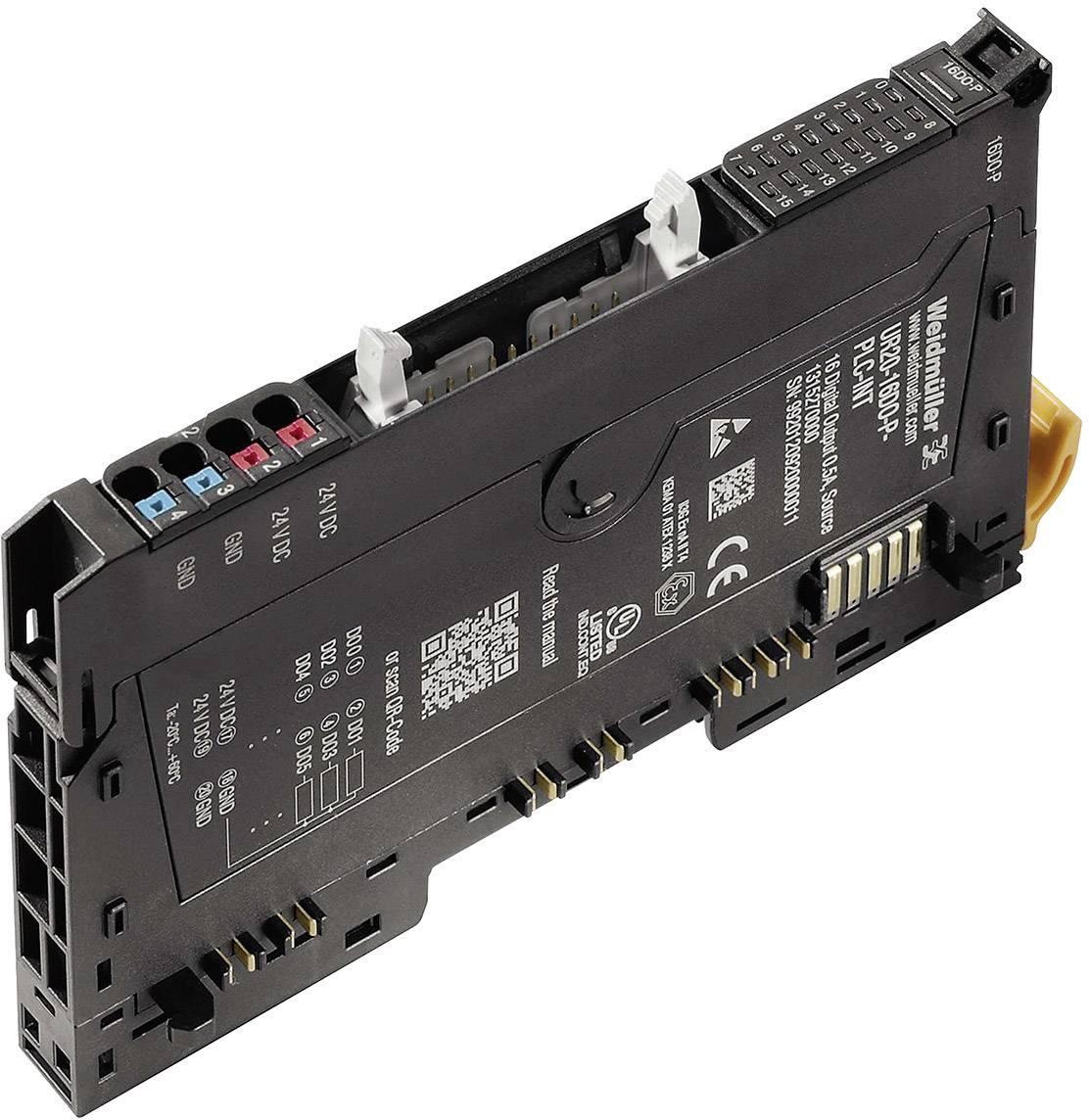 Analogový výstupní modul pro PLC Weidmüller UR20-16DO-P-PLC-INT, 1315270000