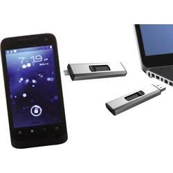 USB pamäť pre smartphone a tablet Xlyne Dual OTG, 32 GB, USB 2.0, micro USB 2.0, strieborná
