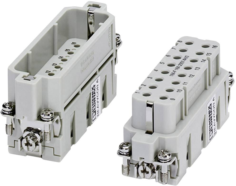 Konektorová vložka, zásuvka Phoenix Contact 1677050, 16 + PE, krimpované, 1 ks