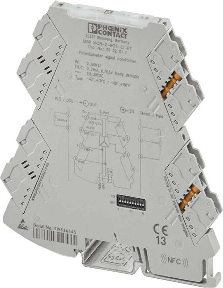 Konfigurovateľný merací prevodník Phoenix Contact MINI MCR-2-POT-UI 2902016 1 ks