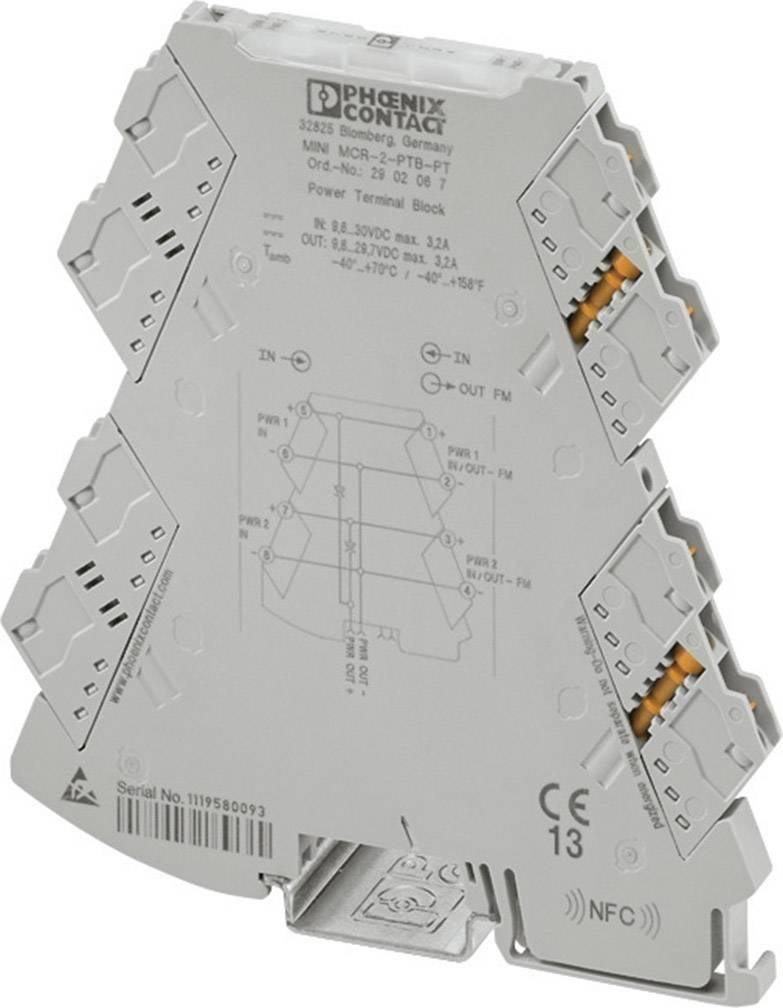 Napájacia svorka Phoenix Contact MINI MCR-2-PTB-PT 2902067 1 ks