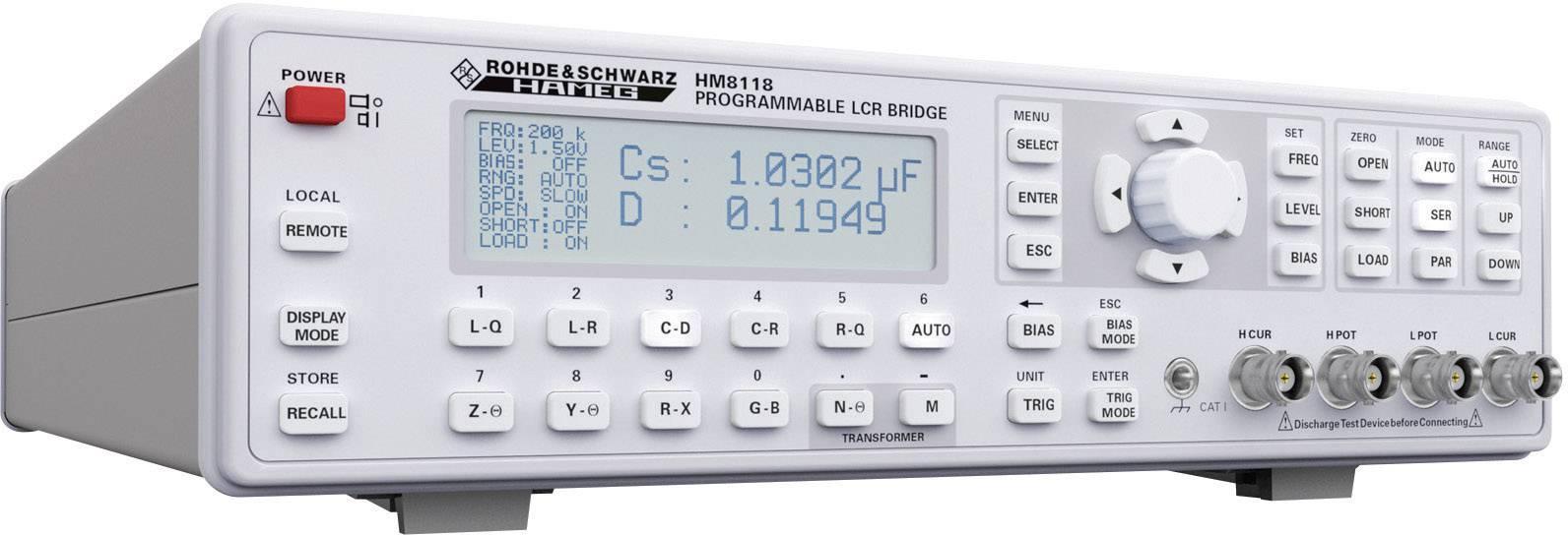 Měřicí můstek Hameg LCR HM8118, kalibrováno dle ISO