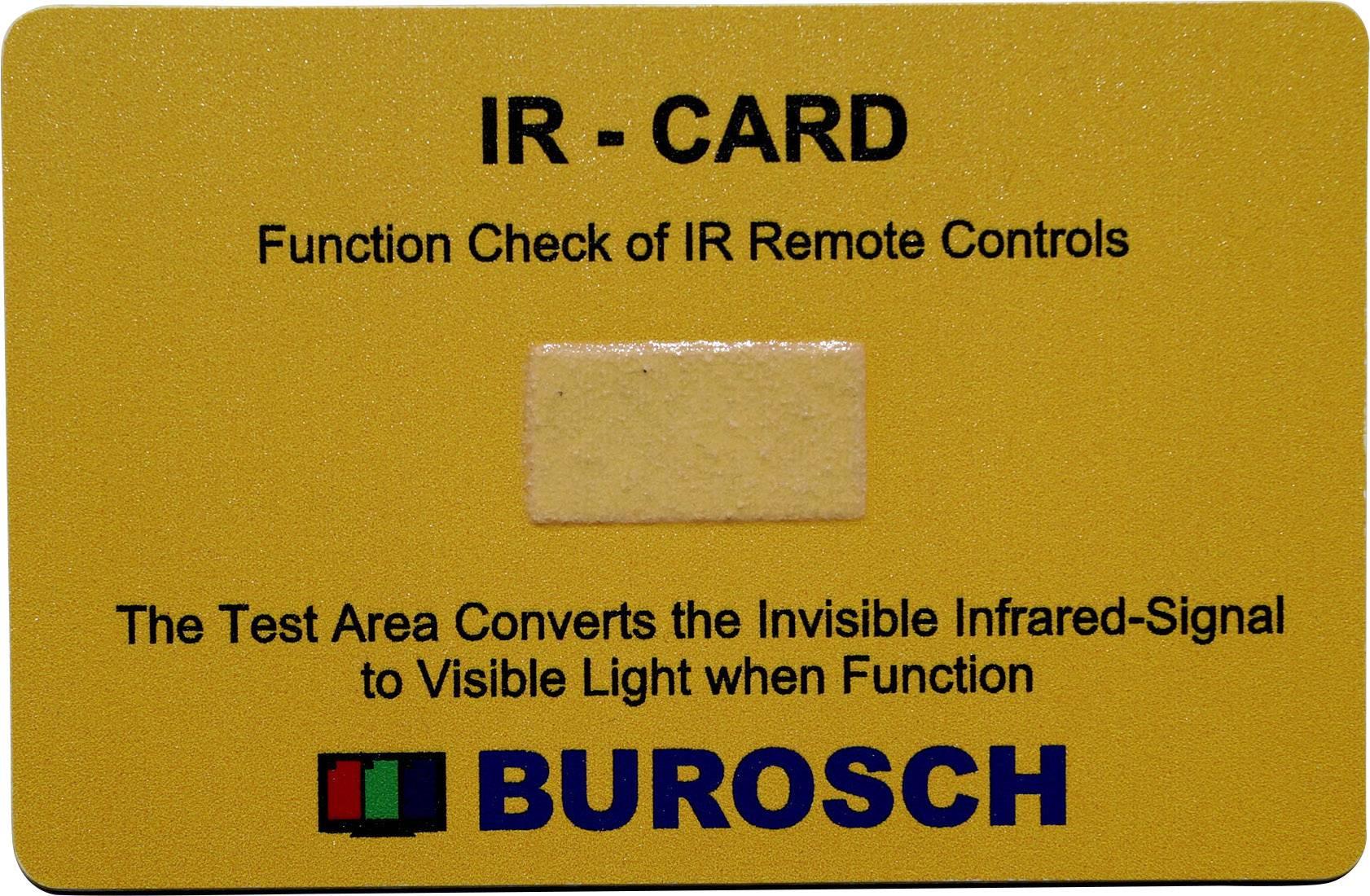 Univerzální IR-karta Burosch, IR-CARD, 980 nm