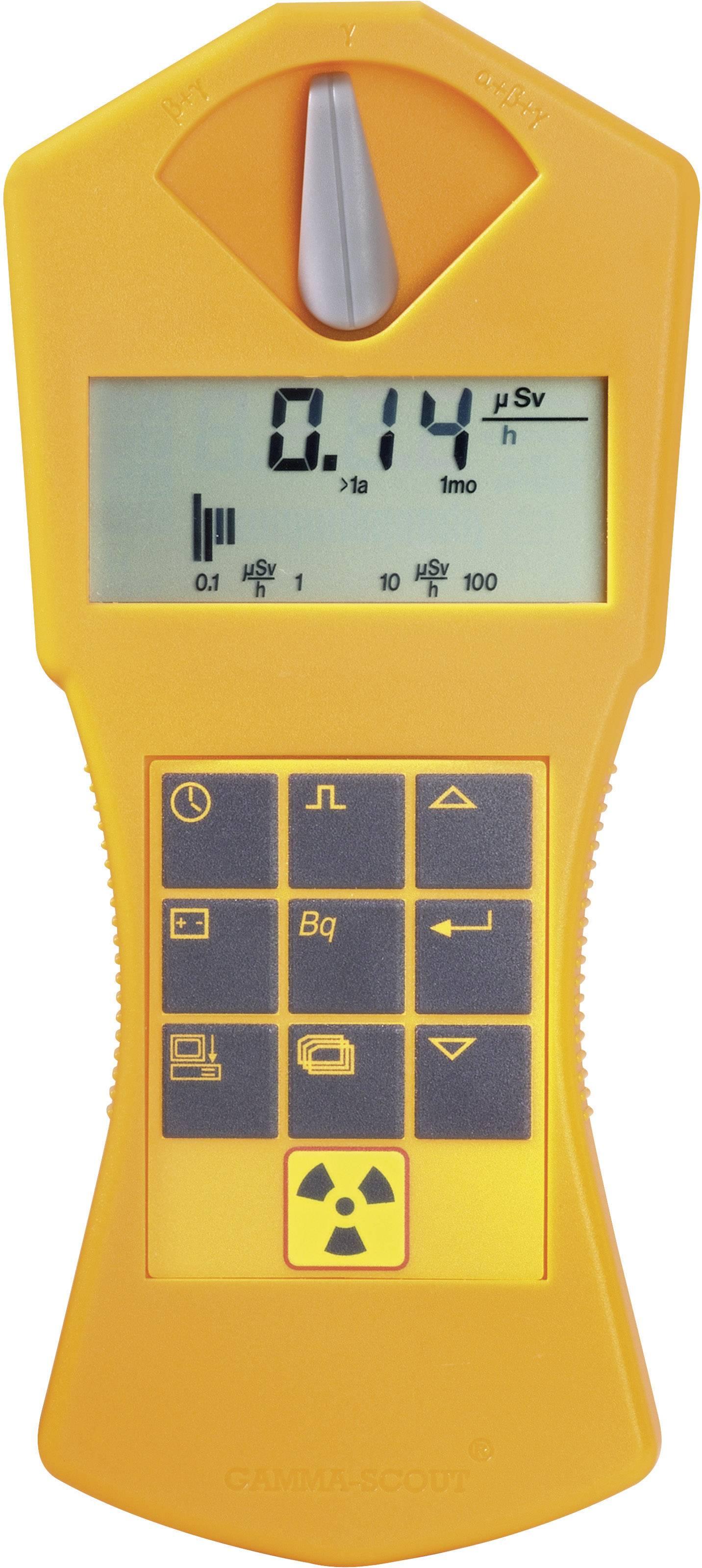 Geigerov čítač pre kontrolu rádioaktivity Gamma Scout Online