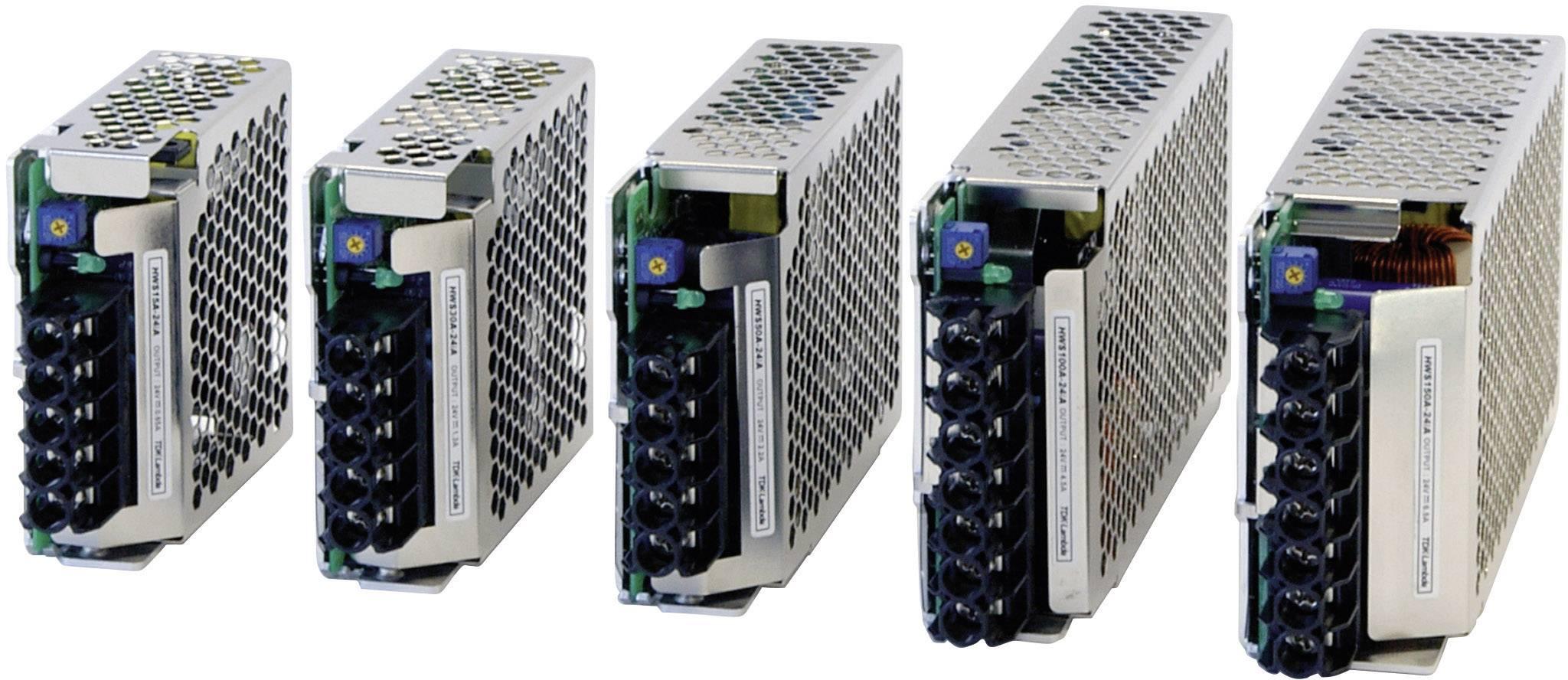 Zabudovateľný napájací zdroj TDK-Lambda HWS-150-24/A, 24 V, 156 W