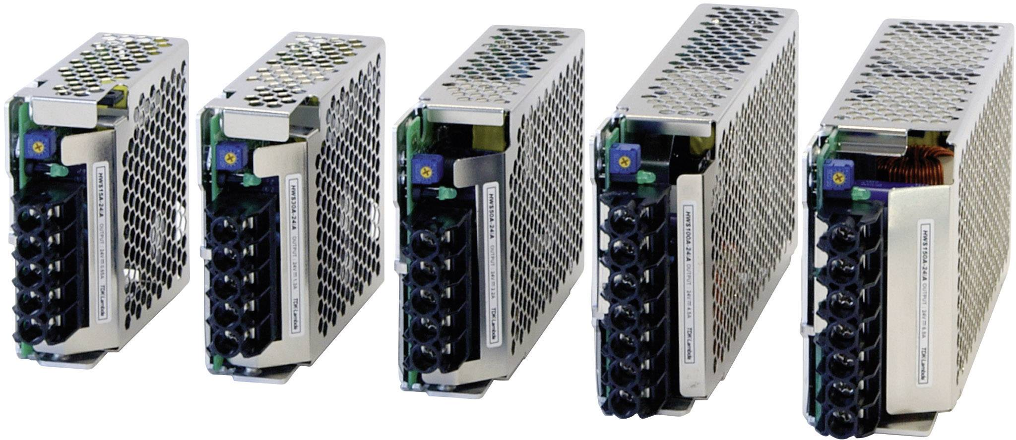 Zabudovateľný napájací zdroj TDK-Lambda HWS-150A-24/A, 24 V, 156 W