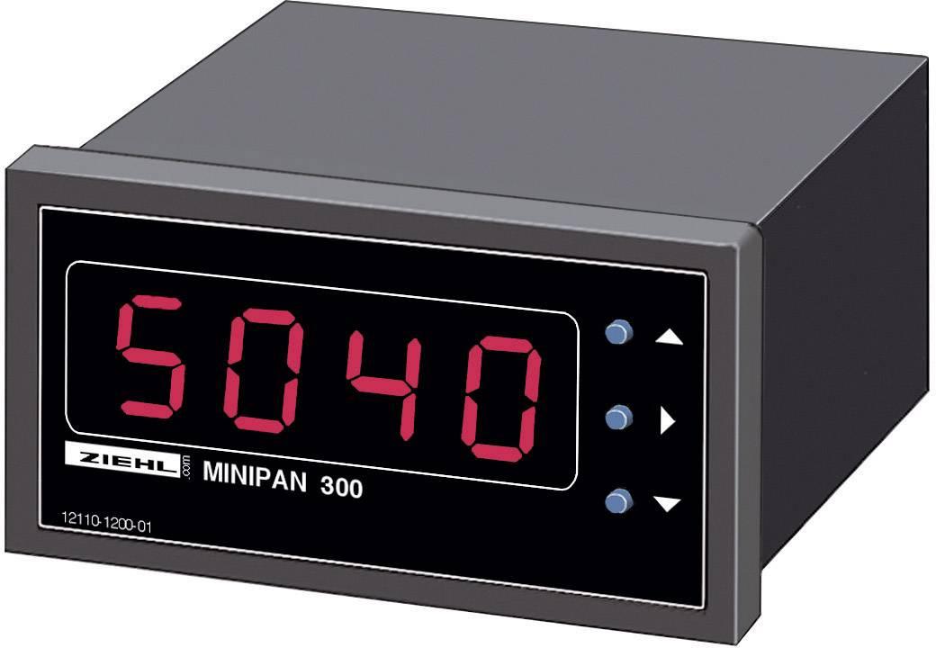 Panelové měřidlo Ziehl MINIPAN 300 DC, 68 x 33 mm