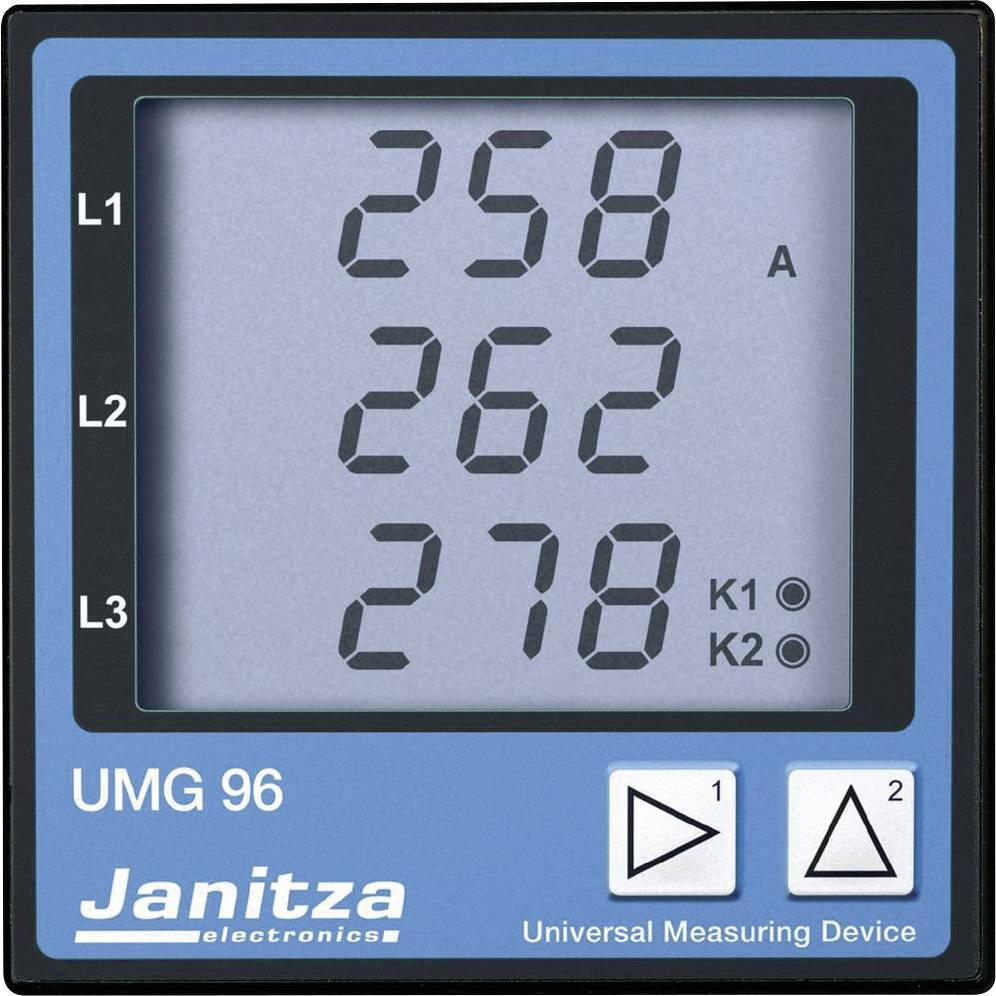 Panelové měřidlo Janitza UMG 96, 3 V A, DIN 92 mm x 92 mm