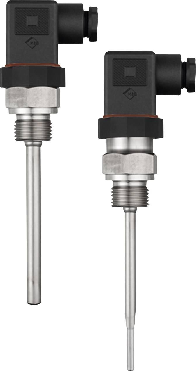 Šroubovací odporový teploměr se zástrčkou Jumo VIBROtemp 104, 100 mm