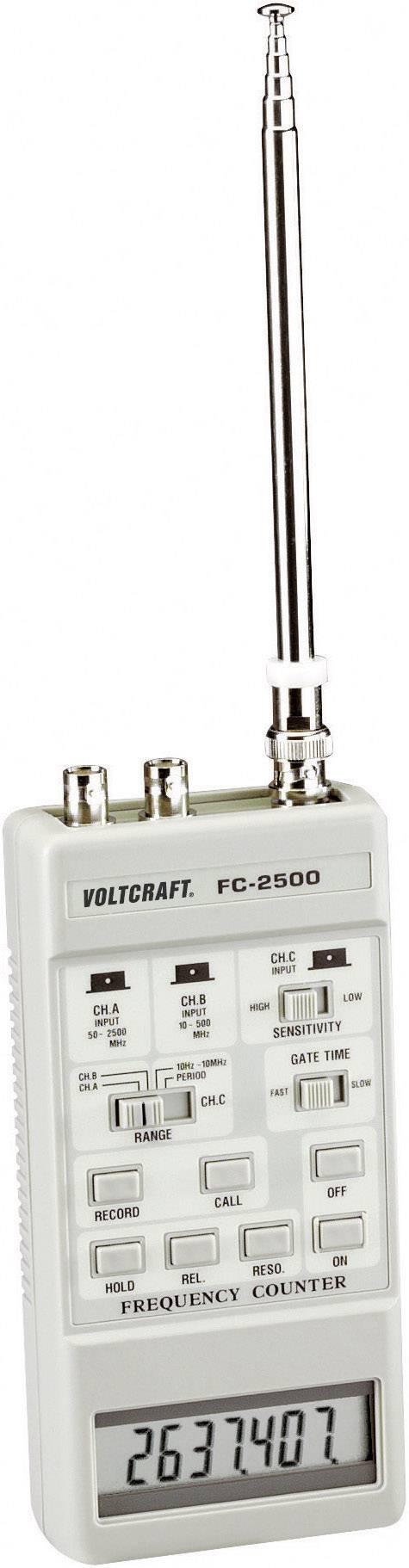 Čítač frekvence Voltcraft FC-2500, 10 Hz - 2,5 GHz
