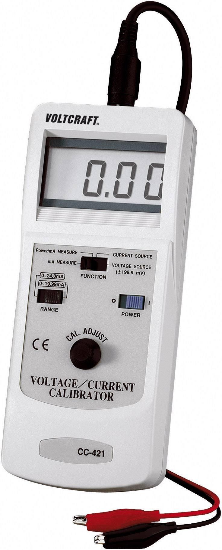 Digitální kalibrační přístroj pro multimetry Voltcraft CC-421, kalibrováno dle ISO
