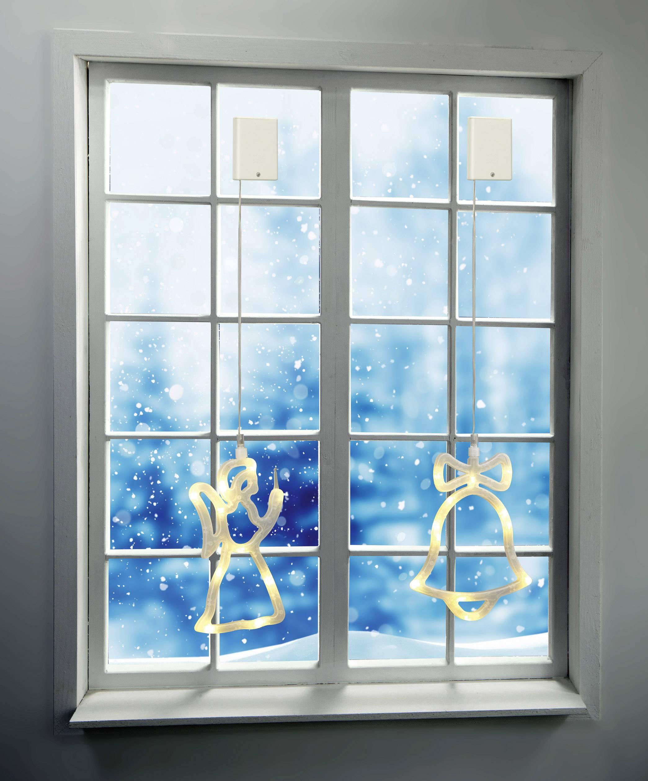 Vianočné LED osvetlenie do okna Polarlite LBA-50-011, zvonček