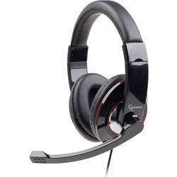 Headset k PC jack 3,5 mm na kabel, stereo Gembird MHS-001 přes uši černá