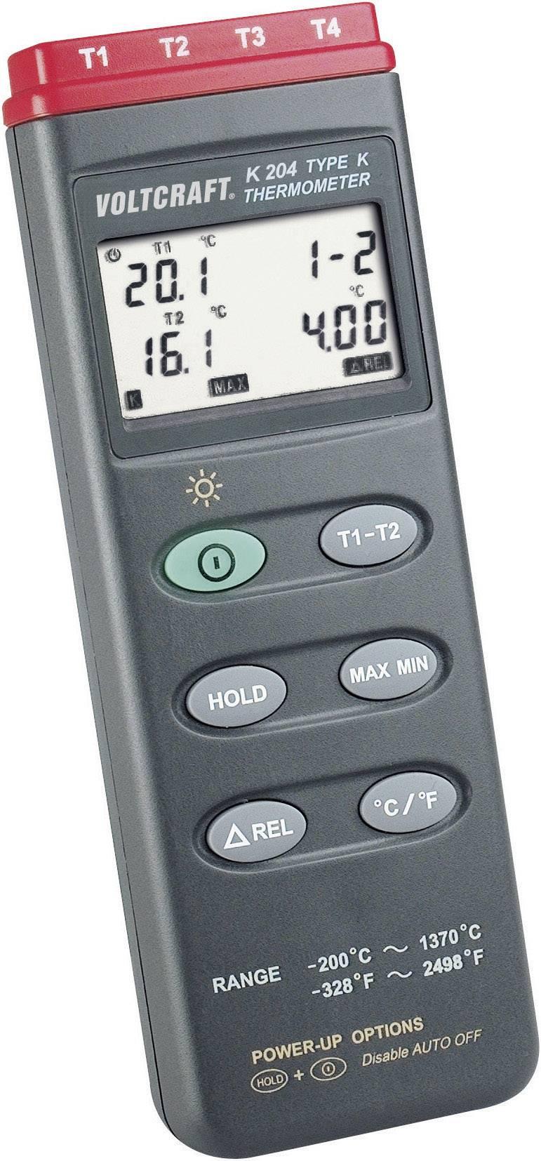 Digitální teploměr Voltcraft K204, -200 až +1370 °C