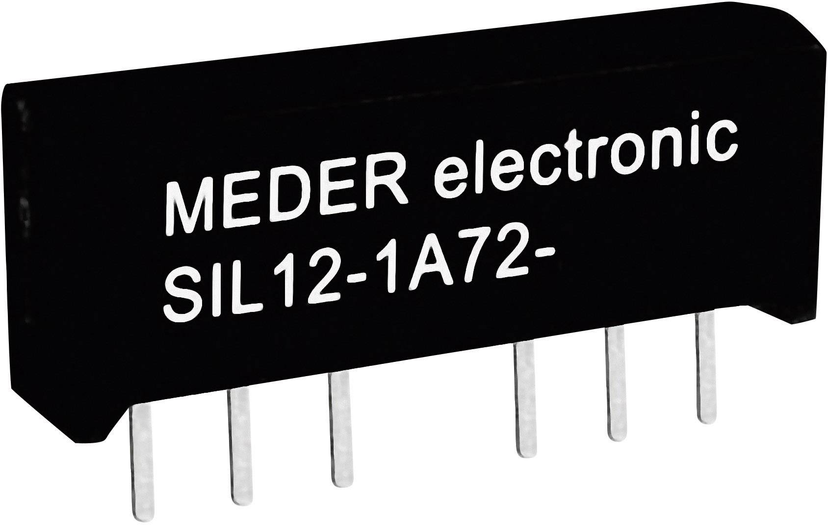 Relé s jazýčkovým kontaktem StandexMeder Electronics SIL05-1A72-71D, 3305100171, 1 spínací kontakt, 5 V/DC, 0.5 A, 10 W, SIL-4