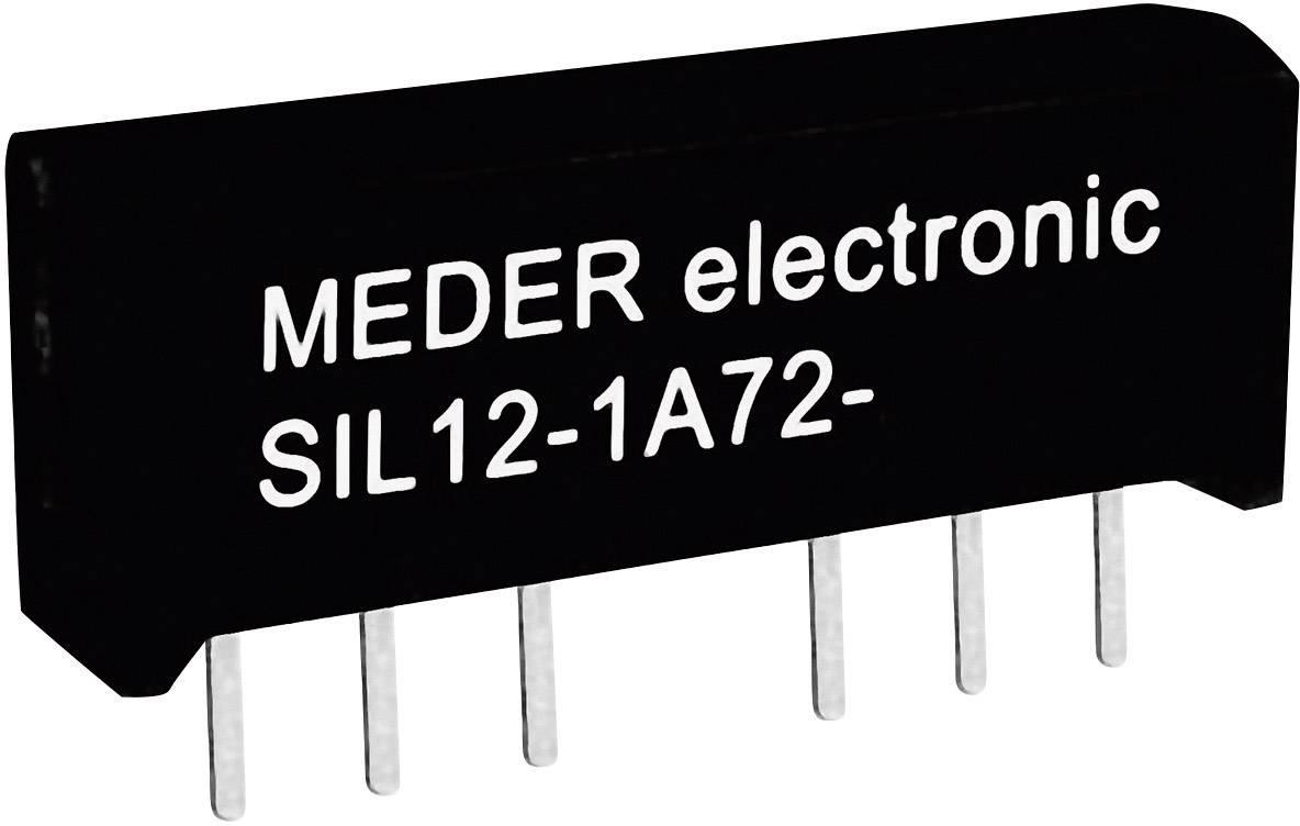 Relé s jazýčkovým kontaktem StandexMeder Electronics SIL12-1A72-71L, 3312100071, 1 spínací kontakt, 12 V/DC, 1 A, 15 W, SIL-4