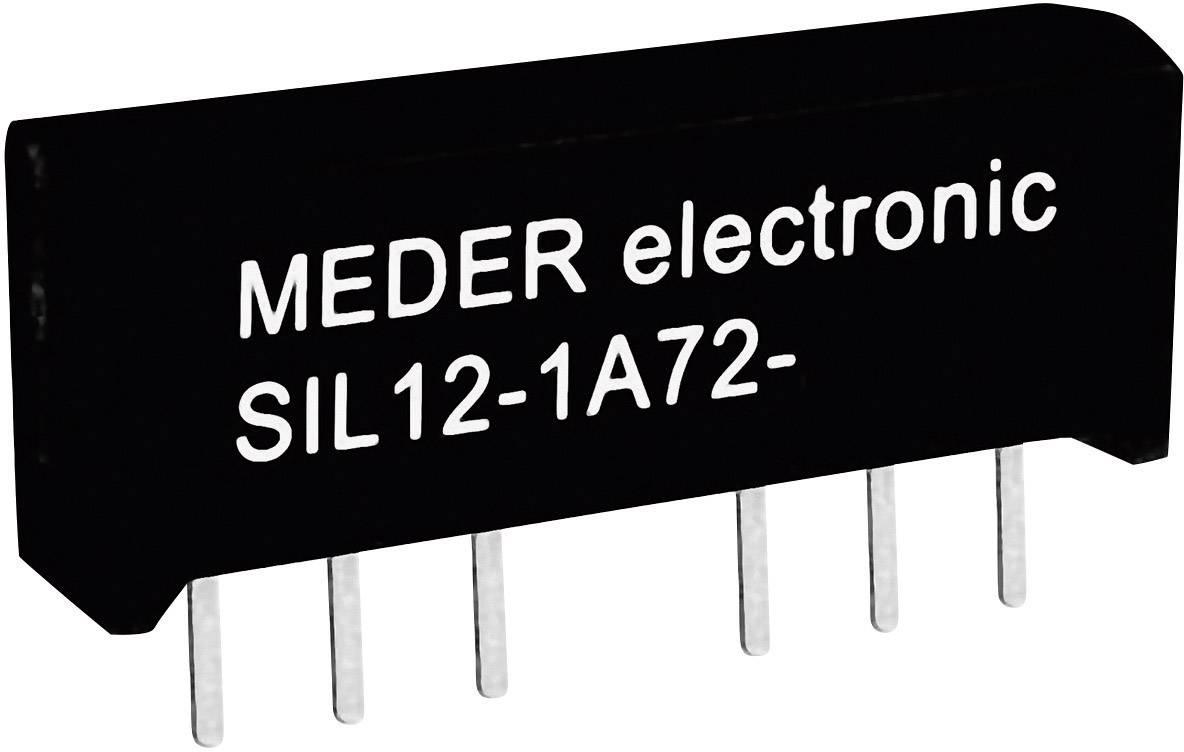 Relé s jazýčkovým kontaktem StandexMeder Electronics SIL12-1A72-71D, 3312100171, 1 spínací kontakt, 12 V/DC, 0.5 A, 10 W, SIL-4