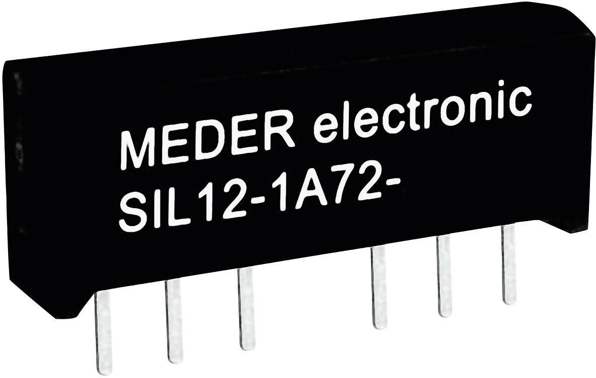 Relé s jazýčkovým kontaktem StandexMeder Electronics SIL24-1A72-71L, 3324100071, 1 spínací kontakt, 24 V/DC, 1 A, 15 W, SIL-4
