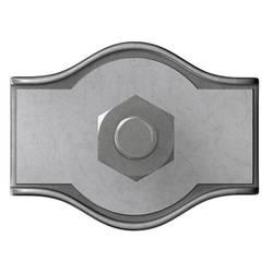 Drátová lanová svorka dörner + helmer 174530, 2 mm, M3.5, ocel, galvanizováno zinkem, 100 ks