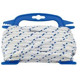 Polypropylénový špagátik dörner + helmer 190310, pletené, (Ø x d) 8 mm x 10 m, biela, modrá