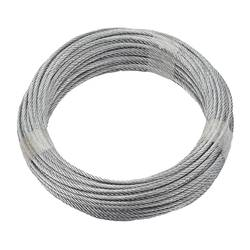 Ocelové lano dörner + helmer 190381, pozinkované, (Ø x d) 3 mm x 20 m, šedá