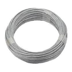 Ocelové lano dörner + helmer 190382, pozinkované, (Ø x d) 4 mm x 20 m, šedá