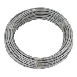 Ocelové lano dörner + helmer 190385, pozinkované, (Ø x d) 5 mm x 20 m, šedá