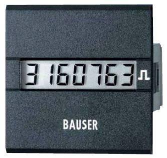 Čítač impulzov Bauser 3811.2.1.1.0.2, 12 - 24 VDC, 45 x 45 mm, IP65