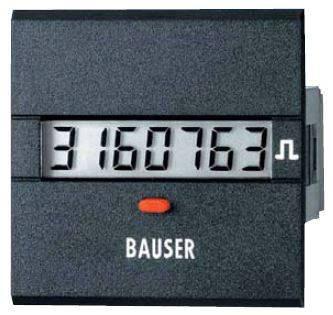 Digitální čítač impulsů Bauser, 3811,3,1,7,0,2, 115 - 240 V/AC, 45 x 45 mm, IP54
