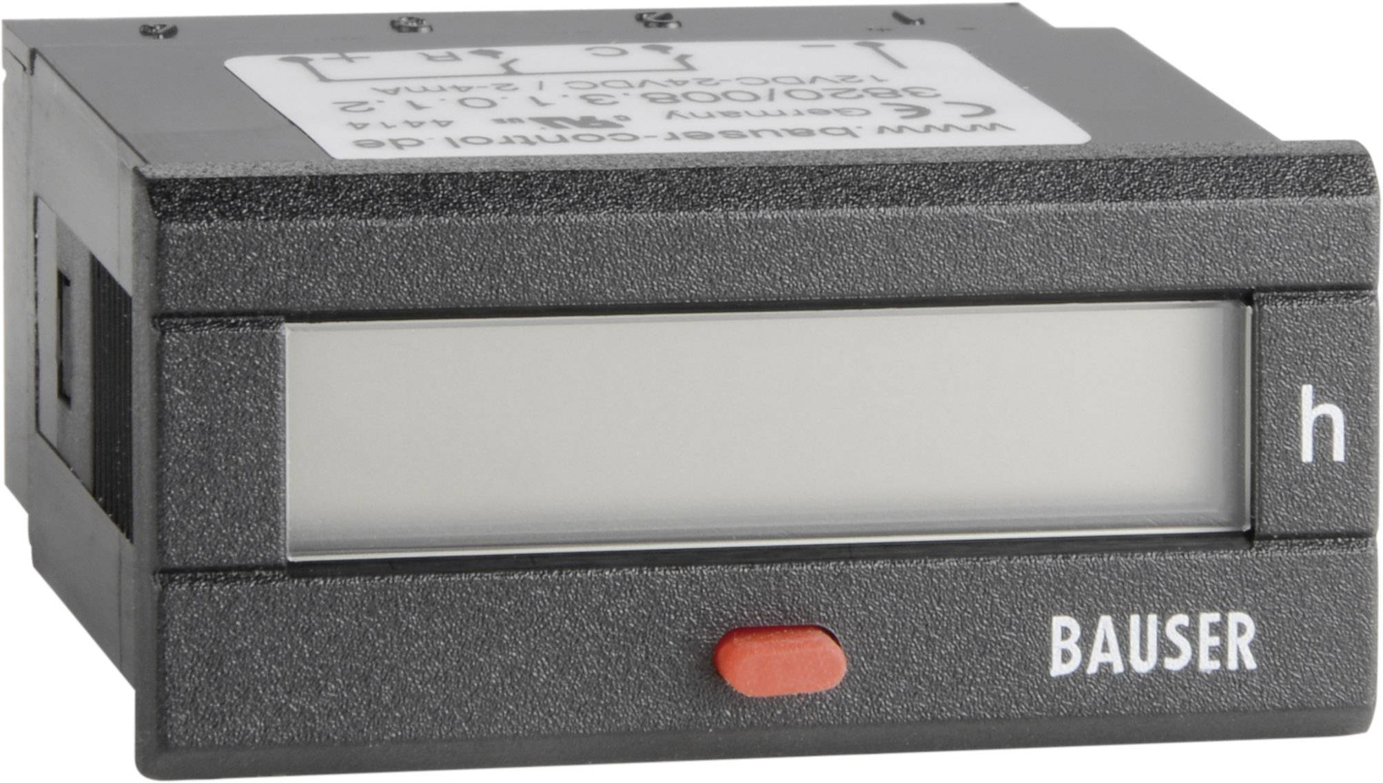 Dvojité počítadlo prevádzkových hodín Bauser Twin BZ/BZ 12 - 24 V/DC, 45 x 22 mm