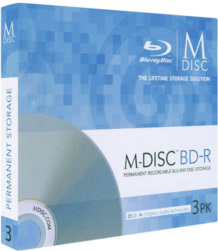 M-DISC Blu-ray 25 GB Millenniata Slimcase, MDBD003, 3 ks