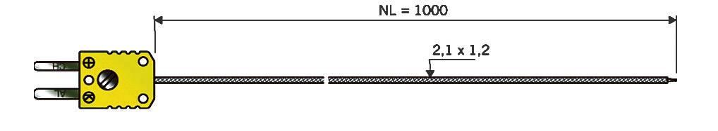 Teplotní čidlo B & B Thermotechnik, typ K (NiCrNi), -50 až +400 °C