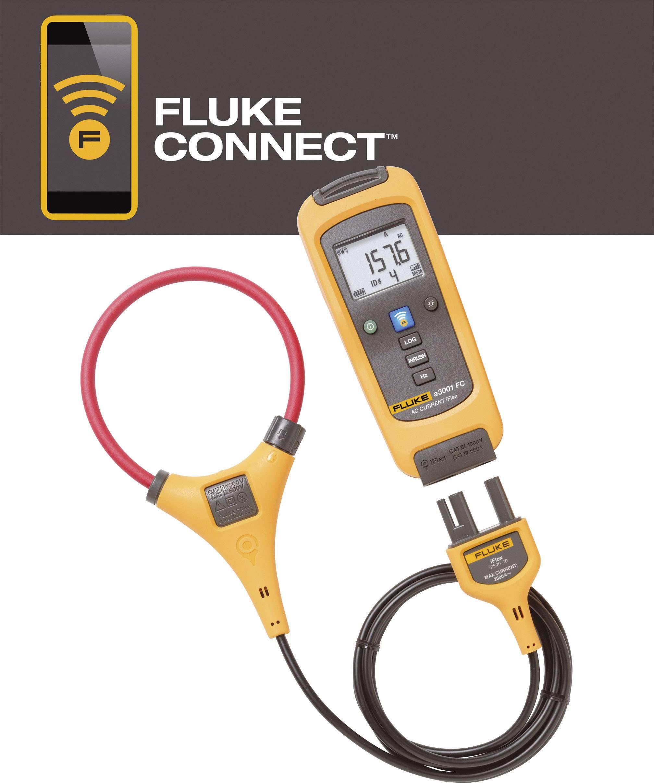 Prúdové kliešte, ručný multimeter digitálne/y Fluke FLK-a3001 FC iFlex, datalogger